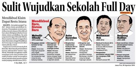 kebijakan populer mendikbud dari era sby hingga jokowi