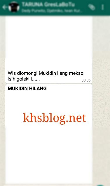 Mukidi hilang dari grup WhatsApp tahun 2016