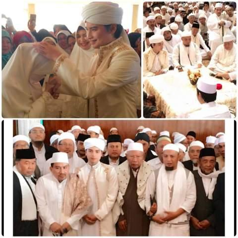 pernikahan anak ustadz Arifin Ilham yakni Alvin dan Larissa tanggal 6 Agustus 2016 di Masjid Az Zikra  Bogor