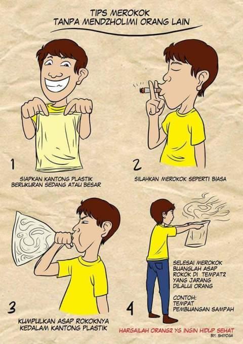 tips merokok tanpa merugikan orang lain