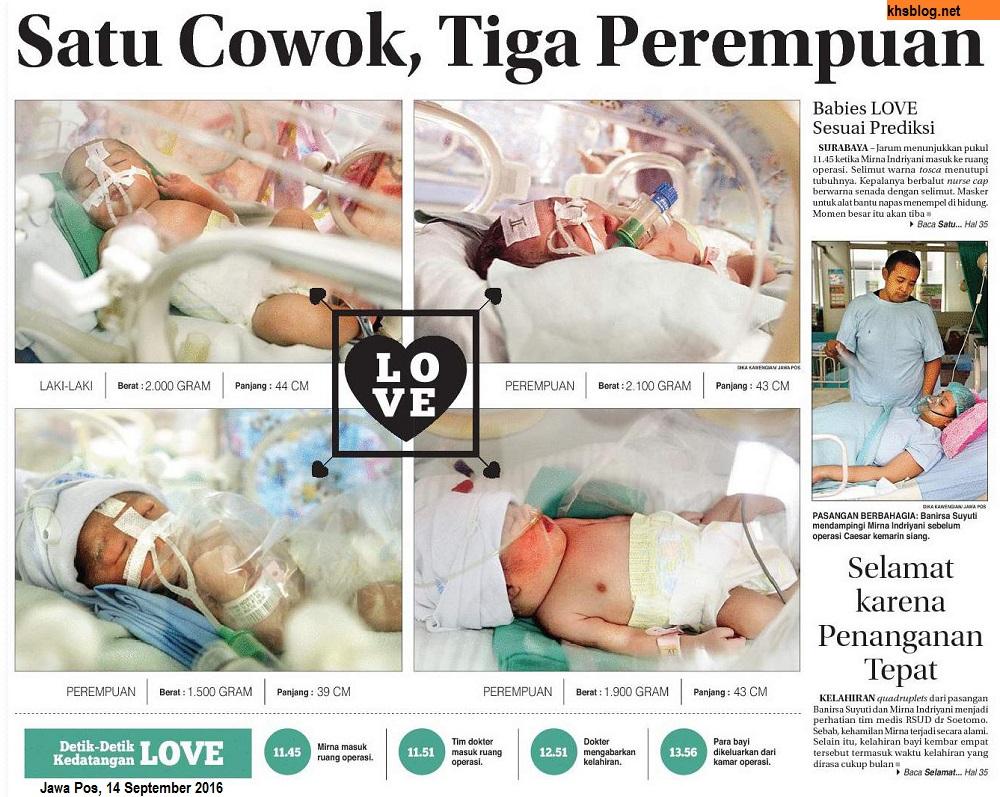 LOVE Bayi Kembar 4 Lahir Di Surabaya Khsblog D
