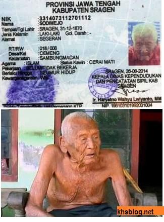 Mbah Gotho manusia tertua dari indonesia kabupaten sragen tahun 2016