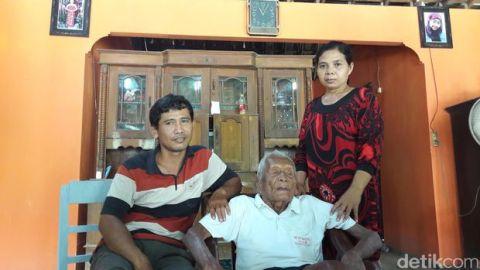 Mbah Gotho manusia tertua umur 145 tahun dari indonesia kabupaten sragen tahun 2016