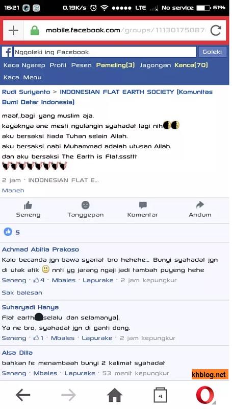 syahadat bagi penganut flat earth society di Indonesia