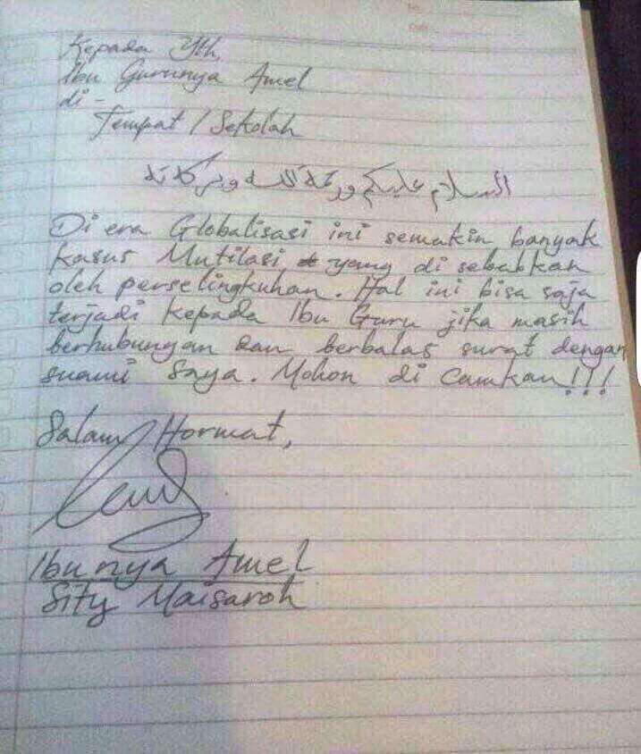 Sekuel Tulisan Tangan Surat Ijin Amelngerih Mantemans