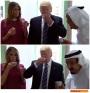 Raja Salman tegur Donald Trump dan istri ketika akan minum dengan tangankiri