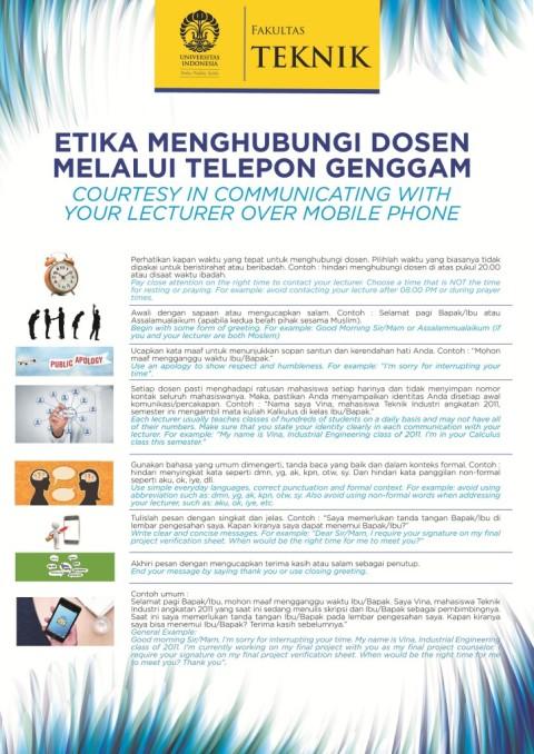 7 Etika Menghubungi Dosen Melalui Telepon Genggam versi kampus UI