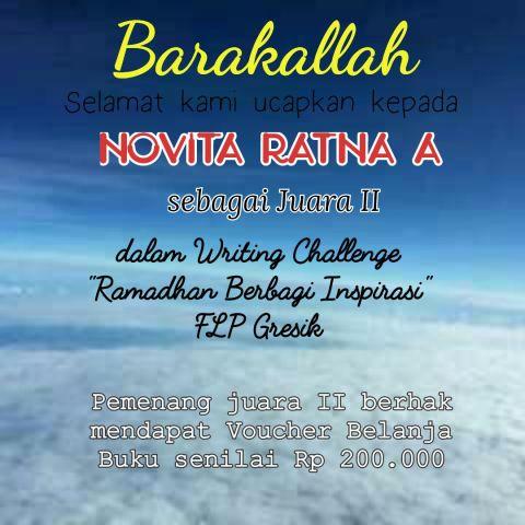 Berkah Syawal, Alhamdulillah menang Writing Challenge Ramadhan FLP Gresik