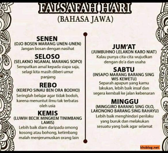 10 Filosofi Hidup Orang Jawa Tempo Doeloe Khsblog D